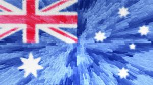 Artistic Australia Australian Flag Blue Flag Red White 2540x1277 Wallpaper