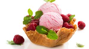 Waffle Cone Raspberry Berry Fruit 4706x3343 Wallpaper