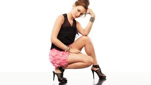 Girl American Actress High Heels Skirt Brunette 2560x1600 wallpaper