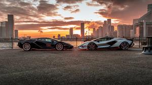Lamborghini Sian Lamborghini Car Vehicle Supercars Italian Supercars Hybrid Electric Car Black Cars  3840x2160 Wallpaper