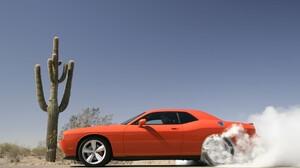 Burnout Car Dodge Dodge Challenger Dodge Challenger Srt8 Orange Car Smoke Vehicle 1920x1200 Wallpaper