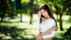 Asian Brunette Depth Of Field Girl Long Hair Model Woman 4500x3001 wallpaper