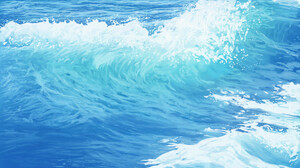 TJ Artist Digital Art Nature Waves Sea 1920x1080 Wallpaper