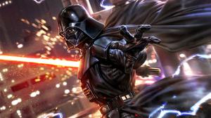 Anakin Skywalker Cape Darth Vader Helmet Lightsaber Man Red Lightsaber Sith Star Wars Star Wars 1920x1080 Wallpaper