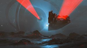 Landscape Planet Planetary Ring Spaceship 1920x1080 Wallpaper