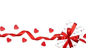 Gift Heart Ribbon 6000x4002 Wallpaper