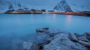 Mountain Norway Fjord Lofoten Islands Reine 2048x1365 Wallpaper
