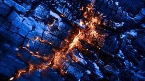 Macro Fire Coal Burning 2560x1440 Wallpaper