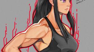 Enen No Shouboutai Armpits Muscular Ponytail Black Hair Bangs Biceps Abs Purple Eyes Anime Maki Oze  2100x2100 Wallpaper