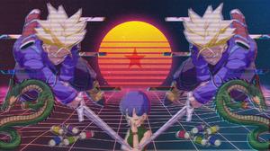 Bulma Dragon Ball Dragon Ball Dragon Ball Super Trunks Dragon Ball Vaporwave 1920x1080 wallpaper