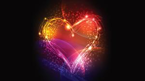 Colorful Colors Heart Light 1920x1080 Wallpaper