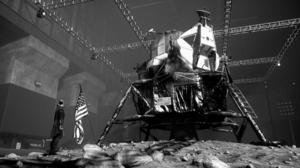 Control Control 2019 PC Game Lunar Lander American Flag 3840x2160 Wallpaper