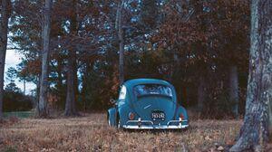 Blue Car Car Landscape Vintage Volkswagen 3559x2381 Wallpaper