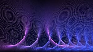 Artistic Digital Art Energy Fractal Purple Science Wave 1920x1080 Wallpaper