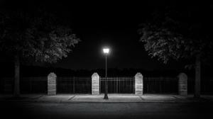 Dark Monochrome Street Light Minimalism Outdoors Urban Lantern Street 3840x2160 Wallpaper