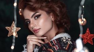 Woman Face Brunette Brown Eyes 3000x2400 Wallpaper
