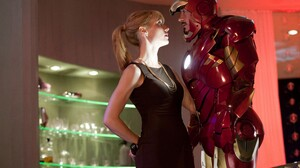 Gwyneth Paltrow Iron Man Iron Man 2 Marvel Comics Pepper Potts Robert Downey Jr Tony Stark 3000x2000 Wallpaper