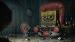 Yan Blanco Spongebob Cigarettes Alcohol Snail Chair Digital Art Humor 1920x1027 Wallpaper