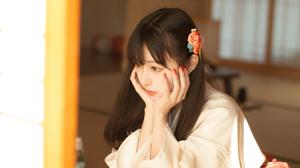 Asian Long Hair Black Hair Kimono Tatami Living Rooms Women Shika XiaoLu 4032x2688 wallpaper