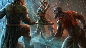 Knife Man Pirate Ship Sword Warrior 1920x1294 Wallpaper