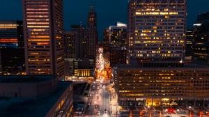 Baltimore USA City Lights Car 3000x2250 Wallpaper
