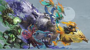 Dragon League Of Legends Riot Games Digital Art GZG 4K 7680x4320 wallpaper