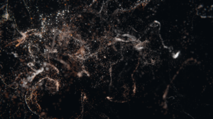 Blender Floating Particles Particle Render 3D Abstract 3840x2160 Wallpaper