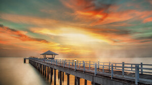 Ocean Sea Sunset 1920x1080 Wallpaper