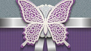 Butterfly Purple Vector White 5490x3667 Wallpaper