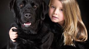 Animal Cane Corso Cute Dog Little Girl 1920x1176 Wallpaper