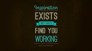 Pablo Picasso Quote Typography Brown Background Grunge 5120x2880 wallpaper