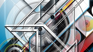 Abstract Geometry 2048x1300 Wallpaper