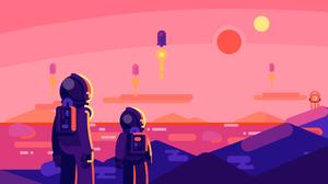 Astronaut Digital Art Minimalist 3840x2160 Wallpaper