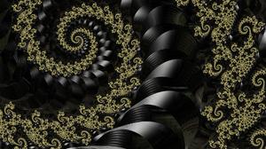 Swirl Spiral Black 1920x1080 Wallpaper