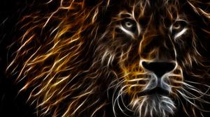 Artistic Fractal Lion 3461x2190 Wallpaper