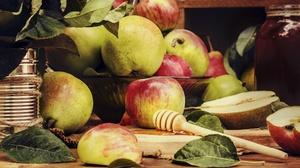 Apple Fruit Honey Pear 1999x1291 wallpaper