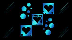 Gradient Heart Blue Circle 1920x1080 Wallpaper