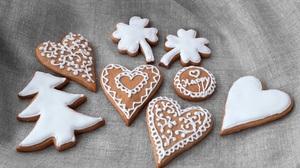 Christmas Christmas Tree Cookie Gingerbread Heart 2560x1565 Wallpaper