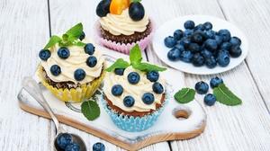 Berry Cream Cupcake Dessert Fruit Strawberry 3189x2399 wallpaper