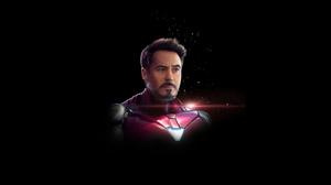 Iron Man Dark Minimalism 4K Artwork Digital Art ArtStation 3840x2160 Wallpaper