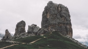 Rock Formation Italy Nature 4444x2500 Wallpaper