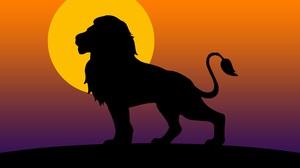Artistic Lion Minimalist Silhouette 5760x3240 Wallpaper