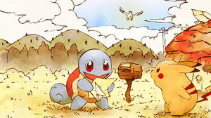 Latias Pokemon Pikachu Pokemon Squirtle Pokemon 1920x1200 Wallpaper