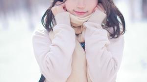 Asian Dark Hair Zhou Ying 4024x6048 wallpaper