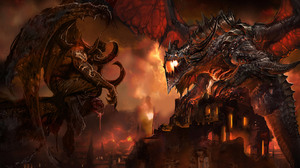 World Of Warcraft Illidan Stormrage Deathwing World Of Warcraft 1680x1050 Wallpaper
