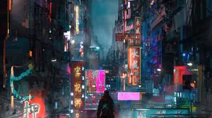 Rutger Van De Steeg Digital Art Concept Art Cyberpunk Japan Science Fiction Futuristic Fantasy City  2361x3485 Wallpaper