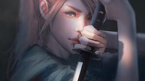 Artwork Fantasy Art Fantasy Girl Women Sword Trungbui 1872x2383 Wallpaper