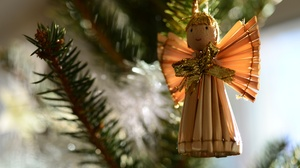 Angel Christmas Decoration Doll 5690x3848 Wallpaper
