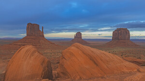 Landscape Nature Desert USA Monument Valley 4096x2726 Wallpaper