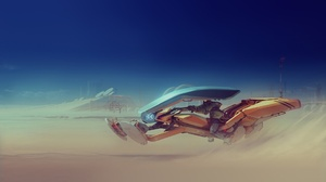 Desert Futuristic Vehicle 1920x1080 Wallpaper
